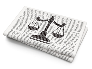 Legal Newspaper-Law-concept-Scales-on-Newspap-108248585