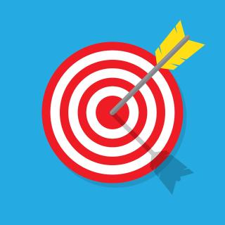 Target arrow bulls eye bigstock--134213147