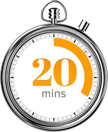 TWENTY MINUTES CLOCK FOR WEBINAR Media508