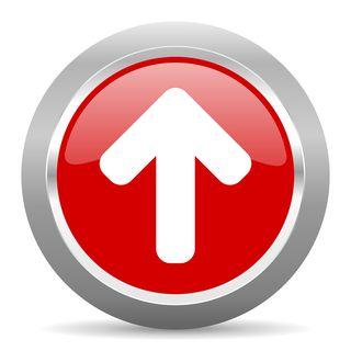 Bigstock-up-arrow-red-chrome-web-circle-119464277