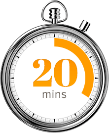 TWENTY MINUTES CLOCK FOR WEBINAR Media508
