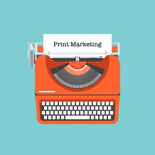 Print Marketing Offline Marketing illustration
