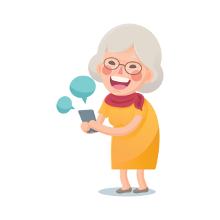 Granny_texting_bigstock--137185940
