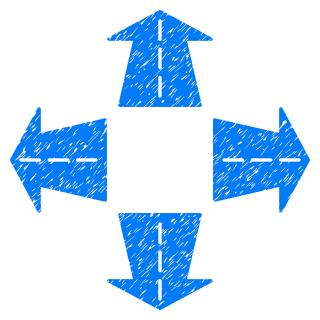 Bigstock-blue road arrows grunge-187958647