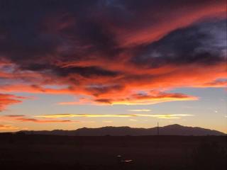 Sunset over Pikes Peak