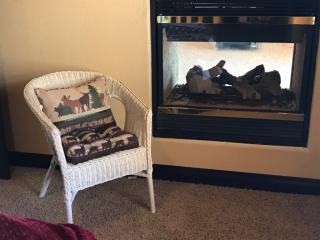 Garden View fireplace