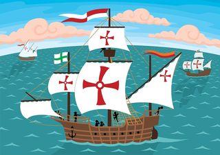 Bigstock-Columbus-s-Ships-14294507